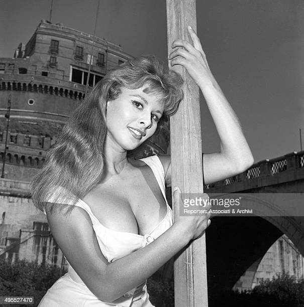 Italian actress Marisa Allasio posing on the set of the film Poor But Beautiful Rome 1956