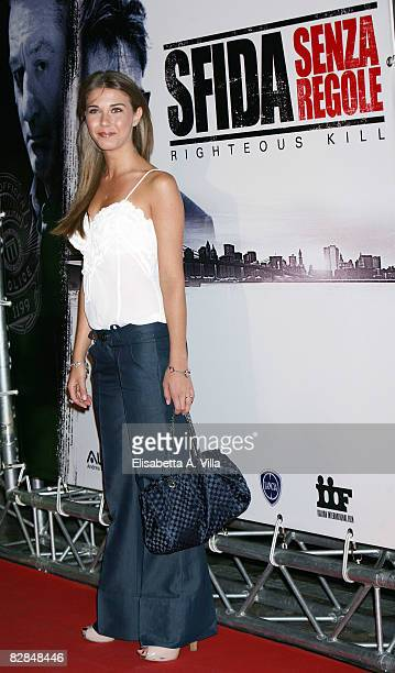 Italian actress Martina Pinto attends the 'Righteous Kill' premiere at the Warner Cinema Moderno on September 16 2008 in Rome Italy