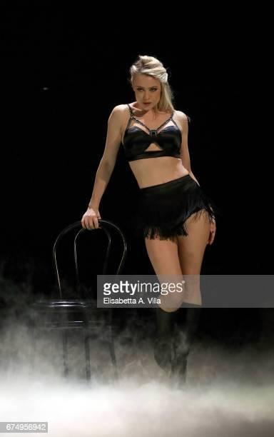 Italian actress Martina Stella performs on the Italian TV show 'Ballando Con Le Stelle' at Auditorium Rai on April 29 2017 in Rome Italy