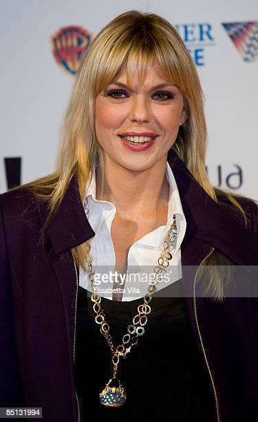 Italian actress Matilde Brandi attends 'Live' premiere at Warner Cinema Moderno on February 26 2009 in Rome Italy