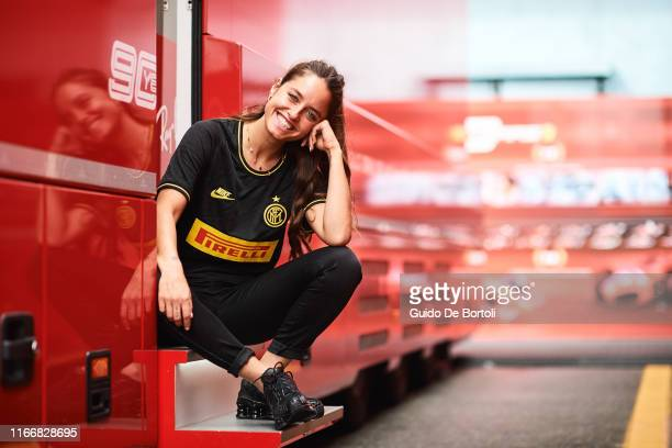 Italian actress Matilde Gioli is seen on race day of the Formula 1 Italian Grand Prix at Autodromo di Monza on September 8 2019 in Monza Italy