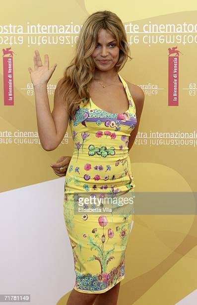 Italian actress Micaela Ramazzotti attends the photocall to promote the film 'Non Prendere Impegni Stasera' during the sixth day of the 63rd Venice...