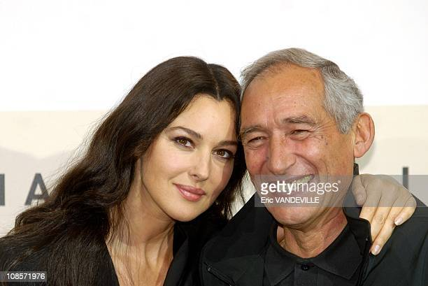 Italian actress Monica Bellucci and french director Alain Corneau Rome Film Festival Photocall of the french film 'Le deuxieme souffle' with Monica...