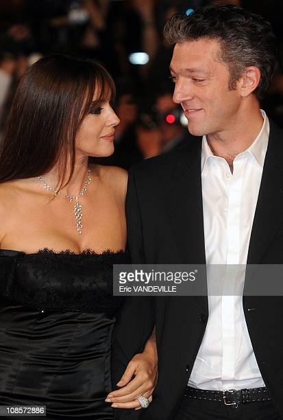 Italian actress Monica Bellucci and her husband french actor Vincent Cassel. The Third Rome Film Festival: Premiere of the italian film 'The man who...