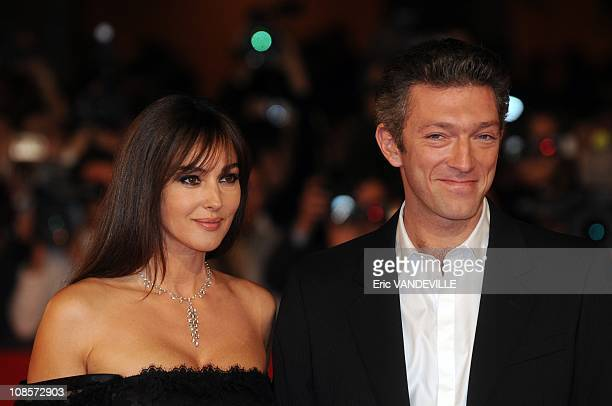 Italian actress Monica Bellucci and her husband french actor Vincent Cassel . The Third Rome Film Festival: Premiere of the italian film 'The man who...