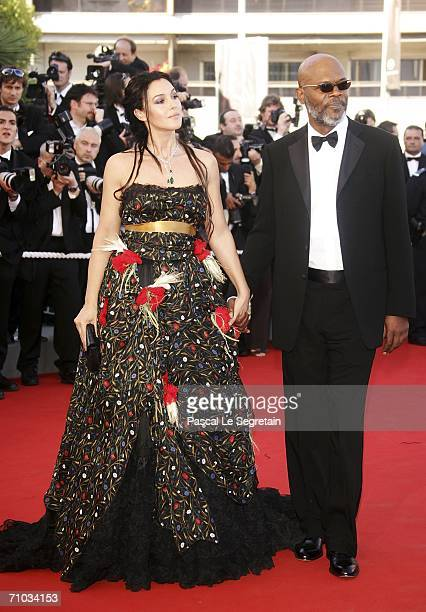 Italian actress Monica Bellucci and US actor Samuel L Jackson attend the 'Marie Antoinette' premiere at the Palais des Festivals during the 59th...