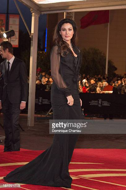 Italian Actress Monica Bellucci arrives for the tribute to Hindi cinema at the 12th Marrakech International Film Festival on November 30,Marrakech...