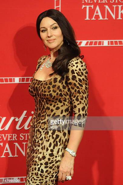 Italian actress Monica Bellucci attends the Cartier Tank Wrist watch event on July 7 2012 in Shanghai China