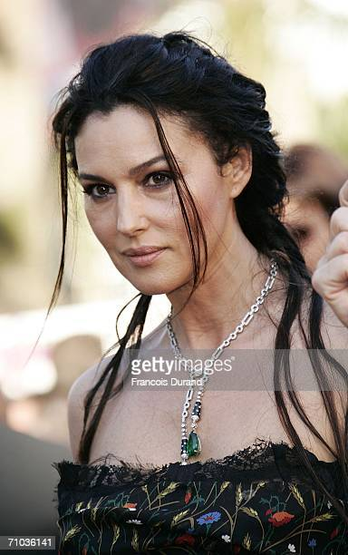 Italian actress Monica Bellucci attends the 'Marie Antoinette' premiere at the Palais des Festivals during the 59th International Cannes Film...
