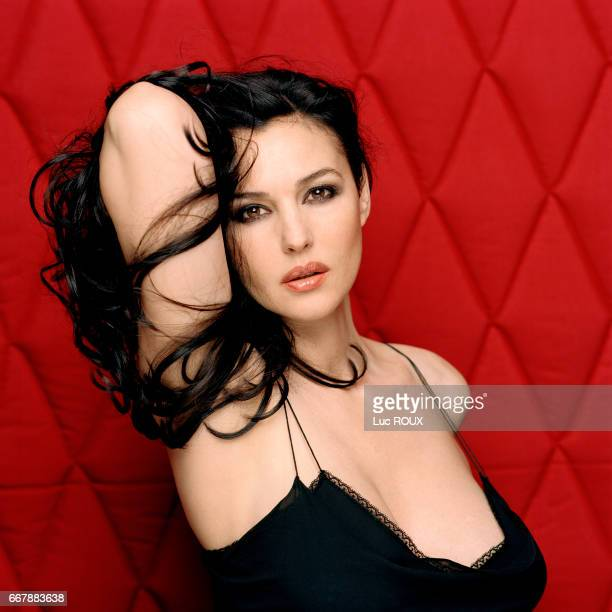 Italian actress Monica Bellucci on the set of a photo shoot for Studio Magazine