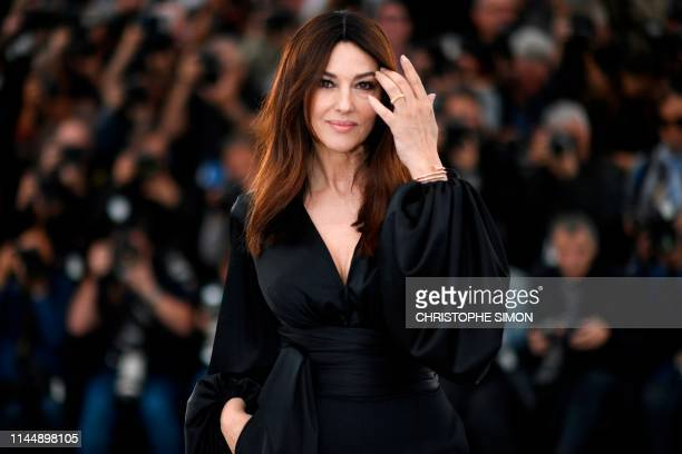 TOPSHOT Italian actress Monica Bellucci poses during a photocall for the film The Best Years of a Life at the 72nd edition of the Cannes Film...