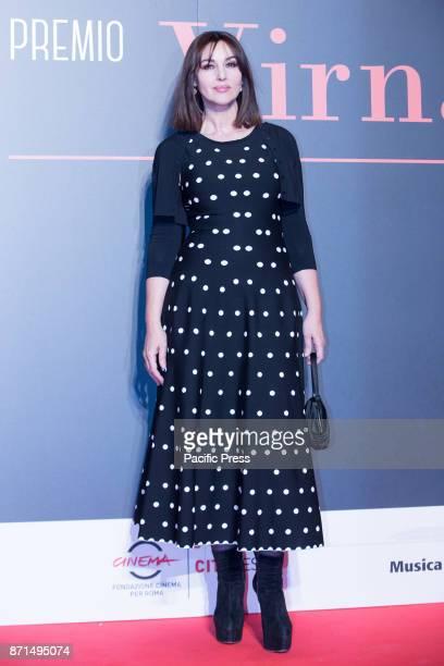 Italian actress Monica Bellucci wins the Virna Lisi 2017 Prize at the Parco della Musica Auditorium