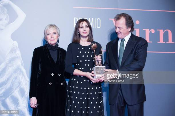 Italian actress Monica Bellucci wins the Virna Lisi 2017 Prize at the Parco della Musica Auditorium with Piera Detassis and Corrado Pesci Virna...