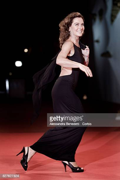 Italian actress Monica Guerritore attends the premiere of Yuppi Du during 65th Venice Film Festival