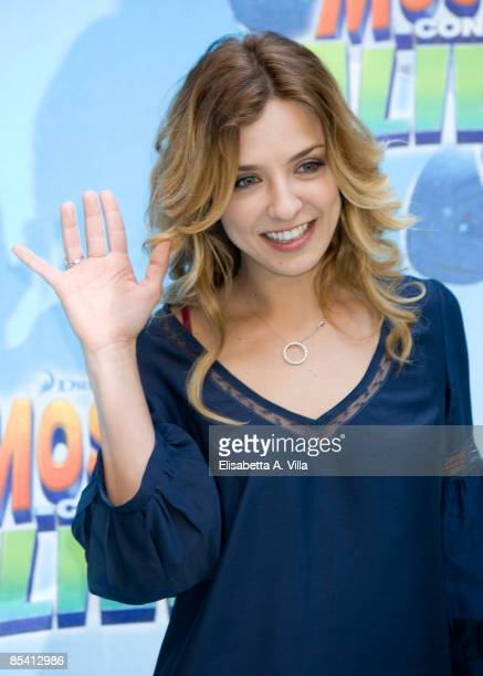 Italian actress Myriam Catania attends 'Monsters Vs Aliens' photocall at Hassler Hotel on March 13 2009 in Rome Italy