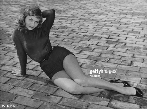 Italian actress Nadia Bianchi, who was Miss Italian Cinema 1953, Rome, Italy, 3rd April 1956.