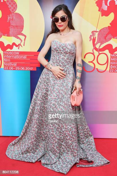 Italian actress Naike Rivelli attends the closing ceremony of the 39th Moscow International Film Festival outside the Rossiya Theatre on June 29 2017...