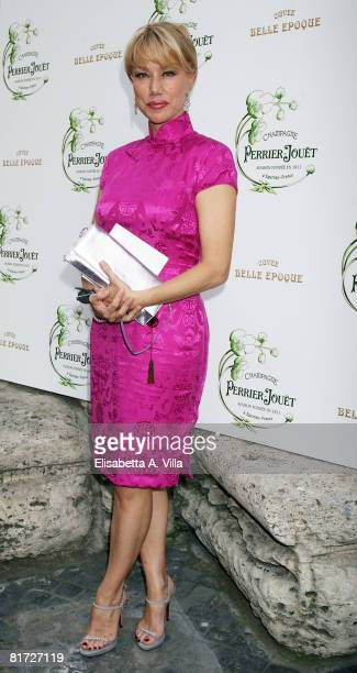 Italian actress Nancy Brilli attends the Beauty Of Senses event held at the Hotel St George on June 26 2008 in Rome Italy During the event the Maison...