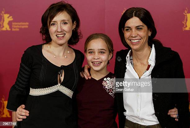 Italian actress Nicoletta Braschi actress Camille Dugay Comencini and director Francesca Comencini attend the photocall to I Like to Work at the 54th...