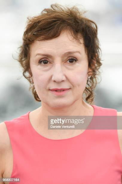 Italian actress Nicoletta Braschi attends the photocall for the Happy As Lazzaro during the 71st annual Cannes Film Festival at Palais des Festivals...