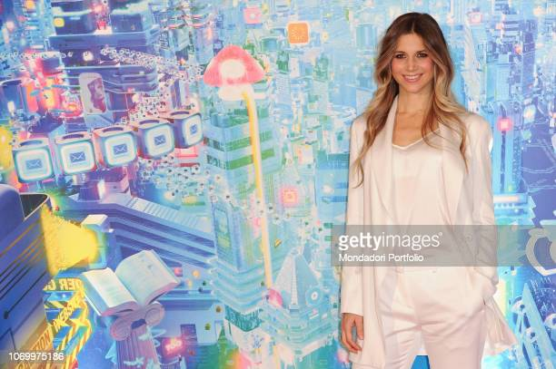 Italian actress Nicoletta Romanoff during the photocall of the animated film Ralph Spacca Internet presented at the De Russie Hotel Rome November...