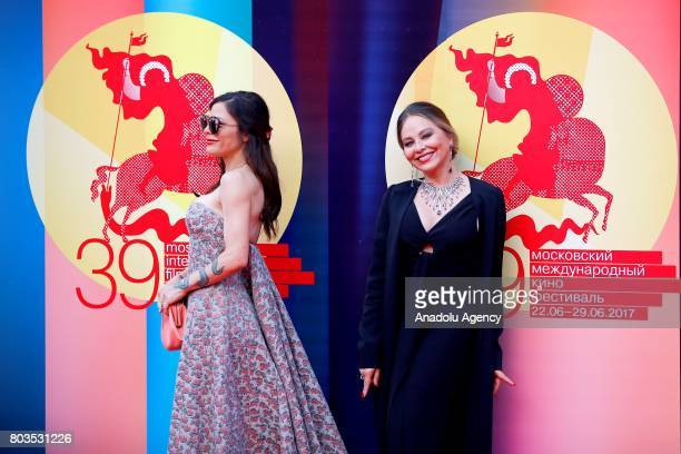 Italian actress Ornella Muti and her daughter Italian actress Naike Rivell attend red carpet within the closing ceremony of the 39th Moscow...
