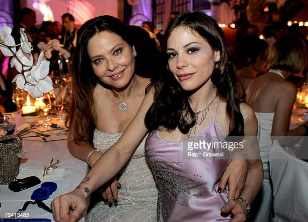 Italian actress Ornella Muti and her daughter Naike Rivelli attend the Deutscher Opera Ball 2007 on February 24 2007 in Frankfurt Germany