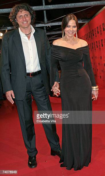 Italian actress Ornella Muti and Stefano Piccolo arrive at the 70 years of Cinecitta Studios Party at Cinecitta May 4 2007 in Rome Italy