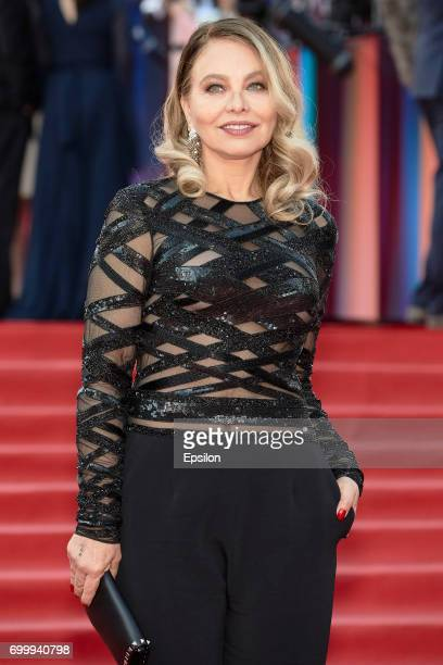 Italian actress Ornella Muti attends opening of the 39th Moscow International Film Festival outside the Karo 11 Oktyabr Cinema on June 22 2017 in...