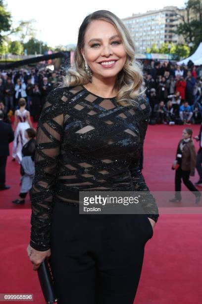 Italian actress Ornella Muti attends opening of the 39th Moscow International Film Festival outside the Karo 11 Oktyabr Cinema on June 22, 2017 in...