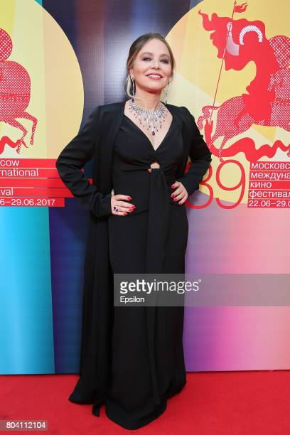 Italian actress Ornella Muti attends the closing ceremony of the 39th Moscow International Film Festival outside the Rossiya Theatre on June 29 2017...