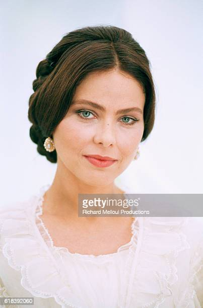 Italian actress Ornella Muti on the set of Le Comte de MonteCristo by director Josee Dayan