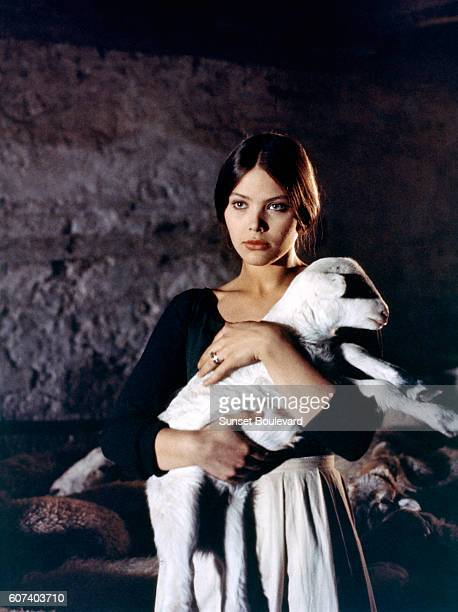 Italian actress Ornella Muti on the set of Leonor written and directed by Juan Luis Buñuel