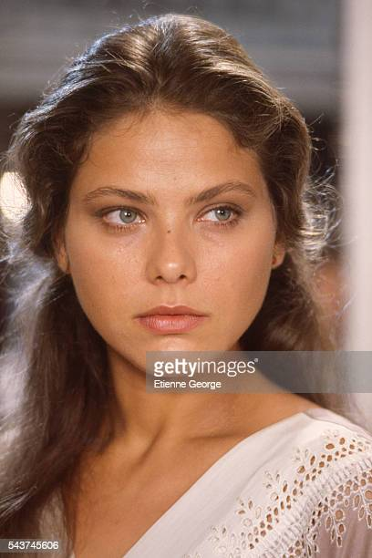 Italian actress Ornella Muti on the set of the film Cronaca di una morte annunciata directed by Italian director Francesco Rosi and based on the...