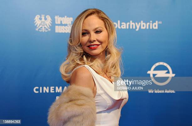 Italian actress Ornella Muti poses as she arrives for the Cinema for Peace gala on February 13 2012 in Berlin Since 2002 Cinema for Peace has been a...