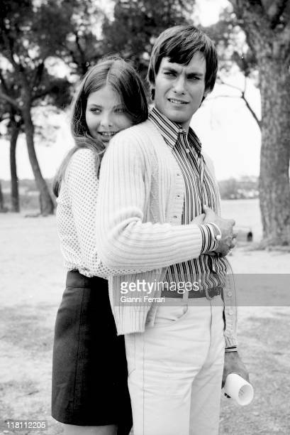 Italian actress Ornella Muti with her boyfriend Alessio Orano Madrid Spain
