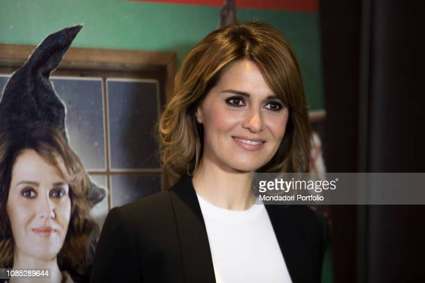 Italian actress Paola Cortellesi attends the photocall of the film La befana vien di notte Milan December 20th 2018