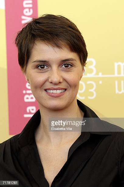 Italian actress Paola Cortellesi attends the photocall to promote the film 'Non Prendere Impegni Stasera' during the sixth day of the 63rd Venice...