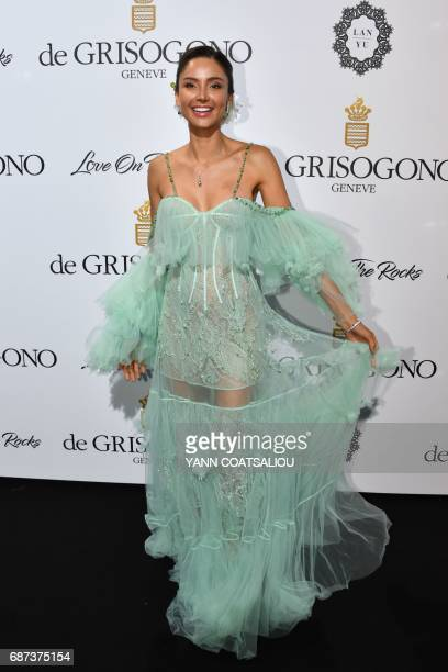Italian actress Patricia Contreras poses during a photocall as she attends the De Grisogono Party on the sidelines of the 70th Cannes Film Festival...