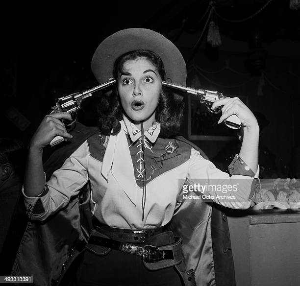 Italian actress Pier Angeli at attends a party in Los Angeles California