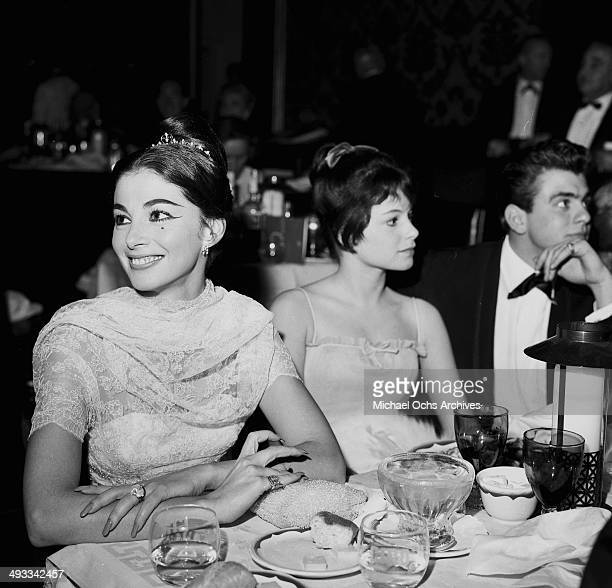 Italian actress Pier Angeli attends a party in Los Angeles California