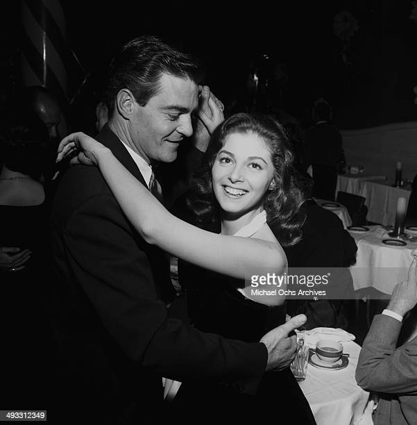 Italian actress Pier Angeli dances with Gar Moore at dinner at Mocambo's in Los Angeles California