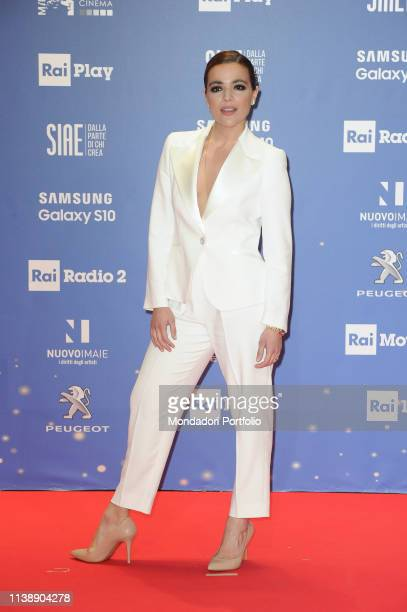 Italian actress Pina Turco during the red carpet of the 64th edition of the David di Donatello. Rome , March 27th, 2019