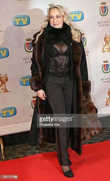 Italian actress / producer / director Eleonora Giorgi arrives at the Italian TV Awards ''Telegatti'' at the Auditorium Conciliazione on January 25...