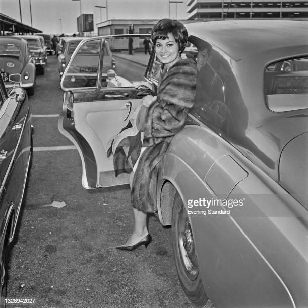 Italian actress Rosanna Schiaffino at London Airport , UK, 30th November 1965.