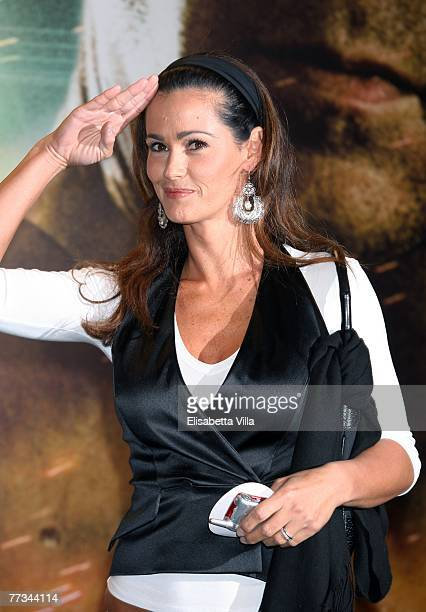 Italian actress Samantha De Grenet attends the Italian premiere of the movie Live Free Or Die Hard at Auditorium Conciliazione October 15 2007 in...