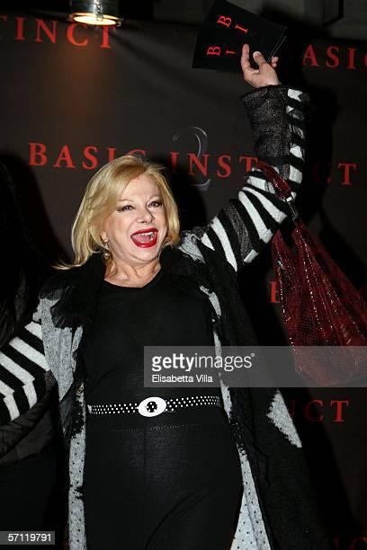 Italian actress Sandra Milo arrives at the Italian Premiere of 'Basic Instinct II: Risk Addiction' at the Warner Village Moderno Cinema on March 17,...