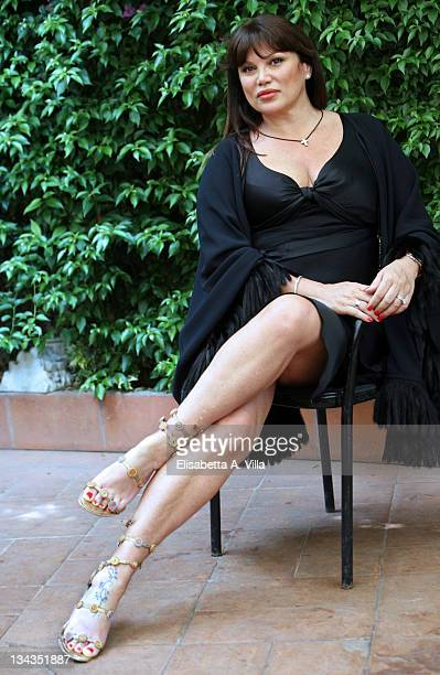 Italian actress Serena Grandi poses for a photocall to promote the movie 'Il Papa Di Giovanna' at L'Antica Pesa Restaurant on June 4 2008 in Rome...