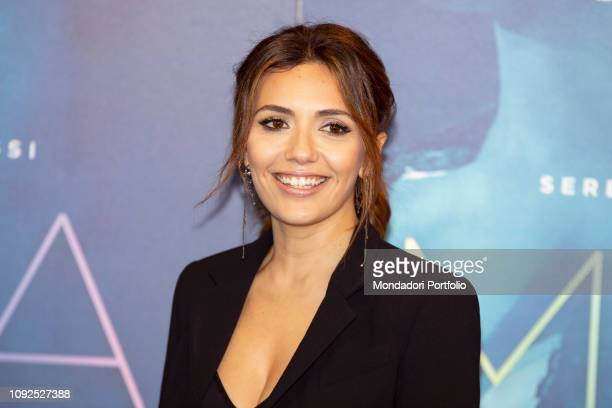 Italian actress Serena Rossi at the press conference for the presentation of the film Io sono Mia dedicated to Mia Martini Milan January 10th 2019
