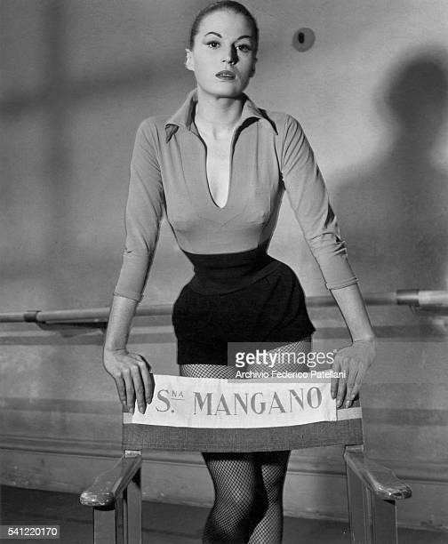 Italian actress Silvana Mangano during the filming of Robert Rossen's film Mambo